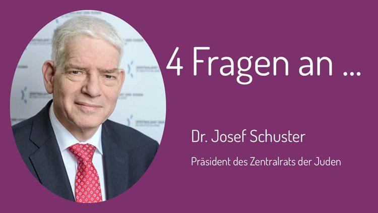 Problematik von Antisemitismus und Rassismus: der Präsident des Zentralrats der Juden Dr. Josef Schuster beschreibt die Problematik.