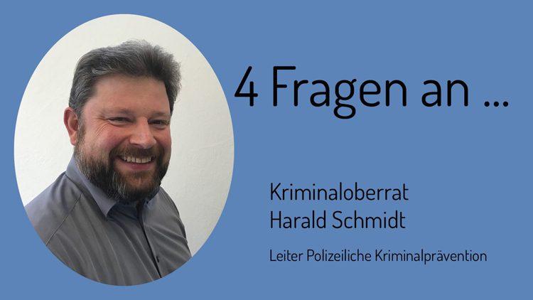 Harald Schmidt von der Polizeilichen Kriminalprävention unterstützt die Zivilen Helden
