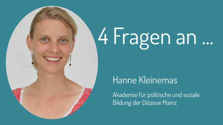 Die vier Fragen zum Thema Zivilcourage beantwortet Hanne Kleinemas vom Haus am Maiberg.