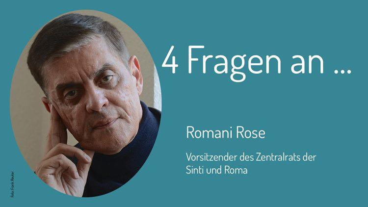 Romani Rose vom Zentralrat der Deutschen Sinti und Roma erklärt sein Verständnis von Zivilcourage und Demokratie