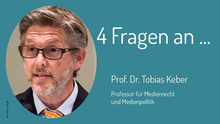 Steht den Zivilen Helden Rede und Antwort: Professor Dr. Tobias Keber