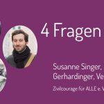 Zivilcourage ist wichtig, darüber sind sich Florian Gerdinger, Verena Luber und Susanne Singer vom Verein Zivilcourage für ALLE e.V. einig.