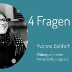 Im Fokus des Interviews mit Yvonne Bonfert vom Verein Aktion Zivilcourage e.V. steht das Thema Zivilcourage.